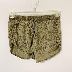Bella Dahl Snake Printed Lyocell Shorts Drawstring